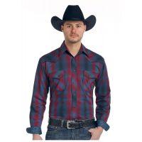 Panhandle Slim Stonecreek Ombre Plaid Rough Stock Mens Long Sleeve Shirt R0F-3184