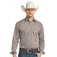 Panhandle Slim Tonopah Vintage Print Rough Stock Mens Long Sleeve Shirt R0S-3172