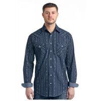 Panhandle Slim Kaibab Aztec Dobby Print Mens Rough Stock Long Sleeve Shirt R0S-3173