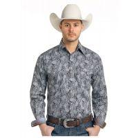 Panhandle Slim Ventura Vintage Print Mens Rough Stock Long Sleeve Shirt R0S-3174