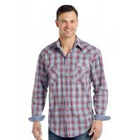 Panhandle Slim Aragon Ombre Plaid Rough Stock Mens Shirt R0S-3186