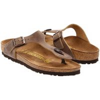 Birkenstock Tobacco Oiled Leather Gizeh Womens Slide On Thong Sandals R943811