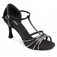 Bloch Guilia 2.75 Inch Flared Heel With Ankle Strap  Adult Ballroom Shoes SO838SB
