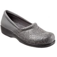 Softwalk Adora Grey Rose Embossed Womens Comfort Shoes S1912-088