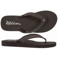 SKB16-001 SKINNY BOUNCE Black Cushion Flip-Flop Cobian Womens Sandals