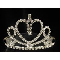 T-29 HEART TIARA WITH DANGLES AND CURLS