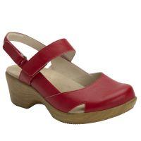 Alegria Red Tarah Womens Casual Adjustable Back Strap Shoes TAR-623