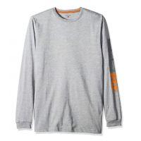 Timberland Pro Grey Blended Logo Base Long Sleeve T-Shirt TB0A1HRVC81