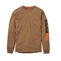 Timberland Pro Tan Base Plate Blended Long Sleeve With Logo TB0A1HRVD02