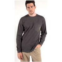 Timberland Pro Men's Dark Charcoal Heather Long Sleeve Base Plate Wicking T-Shirt TB0A1HVN013