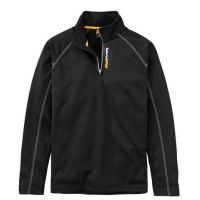Timberland Pro Black 1/4 Zip Mens Fleece Sweatshirt TB0A1OVR015