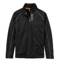 Timberland Pro Black 1/4 Zip Mens Fleece Sweatshirt TB0A1OVR015
