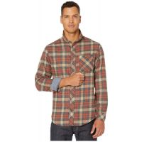 Timberland Pro Burnt Orange Runyon Woodfort Mid-Weight Flannel Work Shirt TB0A1V49X26