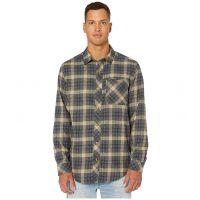 Timberland Pro Dark Navy Runyon Woodfort Mid-Weight Flannel Work Shirt TB0A1V49X27