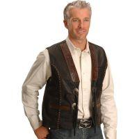 TOOLEDVESTTooled Kobler Leather Mens Vest
