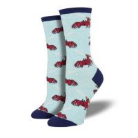 SockSmith Women's Blue Feeling Crabby Socks WNC1873