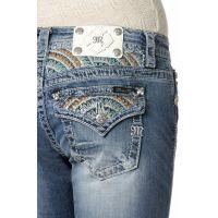 Miss Me Jeans Denim Sunburst Relaxed Womens Boot Cut Jeans XP6376B