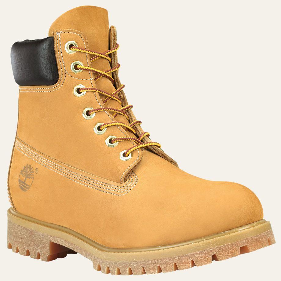 difícil de complacer Normalmente código postal  Timberland Premium 6 inch Boot Waterproof Wheat Nubuck Mens Boot 10061