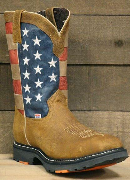 RockinLeather Mens American Flag Steel