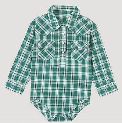 Wrangler Baby Boys Long Sleeve Snap Bodysuit