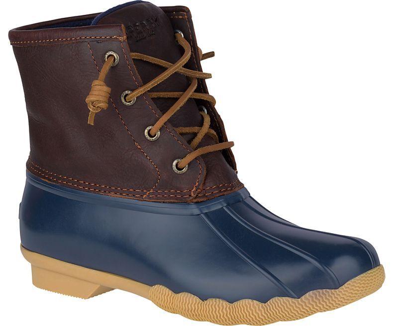 sperry cutwater deck boot tan navy