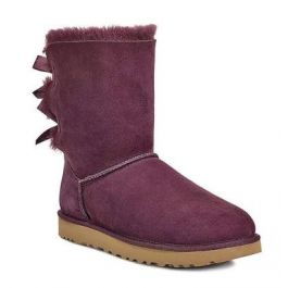 970635b4d1f UGG Bailey Bow II Port Classic Womens Short Boots With Bows On Back 1016225