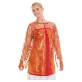 b22f4fbc0ab2 Eurotard Girls Flame of Fire Split Layer Tunic Top 80830C **ONLINE ONLY**