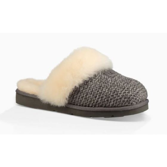 UGG Charcoal Cozy Knit Womens Slippers