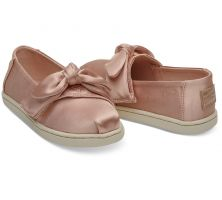 Toms Rose Cloud Satin Bow Tiny Toms Classics Shoes 10012601
