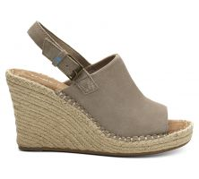 Toms Desert Taupe Suede Womens Monica Wedges 10013456