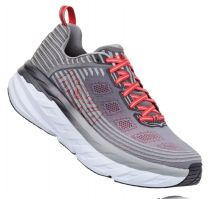 Hoka Alloy/Steel Gray Bondi 6 Cushioned Mens Wide Athletic Running Shoes 1019269