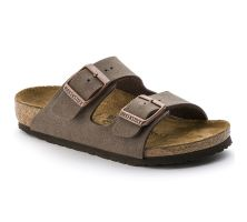 Birkenstock Arizona Slide Mocha Leather Kids Sandals 55289-3