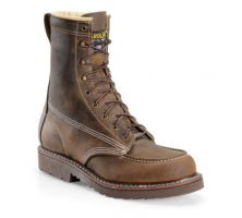 Carolina Brown Assembly Hi Domestic 8 Inch Moc Toe Mens Steel Toe Work Boots CA7508