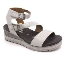 Remonte Silver Glitter Womens Wedge Sandals D6351-92