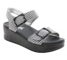 Alegria Morgyn Stripes Womens Comfort Wedge Sandals MOR-879