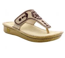 Alegria Vanessa Mandala Natural Womens Thong Sandals VAN-178