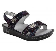 Alegria Vienna Black Lush Womens Adjustable Strap Sandals VIE-940