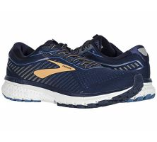 Brooks Navy/Deep Water/Gold Ghost 12 Mens Comfort Running Shoes 110316-489