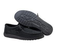 Hey Dude Black Wally Sox Micro Mens Shoes 150204942
