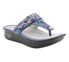 Alegria Carina Vintage Scarf Womens Slide Thong Comfort Sandals CAR-596