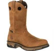 GB00103 Brown Carbo-Tec Waterproof Wellington Georgia Mens Work Boots