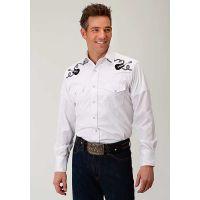 Karman Roper 2023 Tone On Tone Horseshoes Mens Long Sleeve Shirt 0100100177717WH