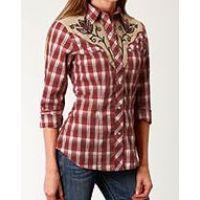 Karmen Roper Red Long Sleeve Womens Shirt 0105000240770RE