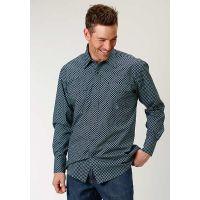 Karman Roper 1874 Square Peg Geo Mens Western Long Sleeve Snap Shirt 0300102250727BU