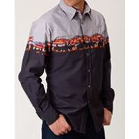 West Made by Karmen Roper Multi Color Long Sleeve Snap Shirt 0300104210780
