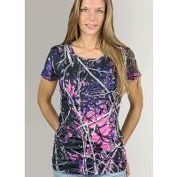Moon Shine Camo Short Sleeve Muddy Girl Womens Shirt 0302100