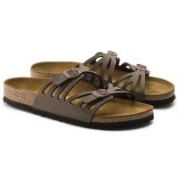 Birkenstock Mocha Granada Birkibuc Womens Slide On Sandals N1000605