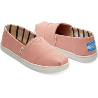 Toms Coral Pink Heritage Canvas Youth Classic Kids Shoes 10013595