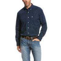 Ariat Deep Pacific Saltman Stretch Mens Long Sleeve Button Down Shirt 10023739