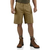 100245-253 Dark Khaki Washed Twill Dungaree Carhartt Mens Shorts